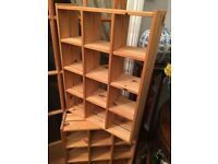 Wooden storage units ideal for kitchen or any other use / free standing or wall mount