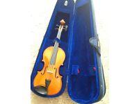 Stentor Andreas Zeller viola 3/4 size with shoulder rest and rosin in case.