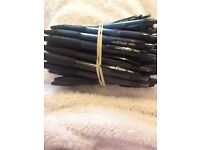 Pack of 30 uni click black gel pens