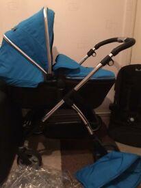 Silver Cross Blue Wayfarer (£125) With Car Seat (£175)
