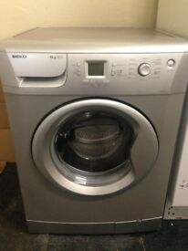 beko silver 8kg 1200 spin digital washing machine