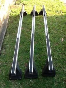 Rhino-Rack roof racks, set of 3 X 1500, heavy duty, silver Kirrawee Sutherland Area Preview