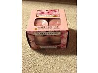 Job Lot 6x Boxes of Yankee Candle Tea Lights. Each a box of 12. Floral Scents. Brand New and Unused.