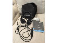 Sennheiser Pilot Headset with warranty documents and bag