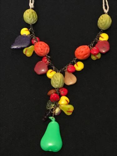 Vintage Fruit Salad Necklace