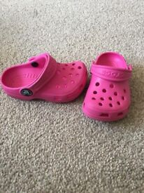 Girls (infants) Crocs size 4-5