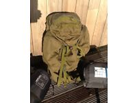 Traditional large army back pack & 2 sleeping bags for sale. £40 for the set.