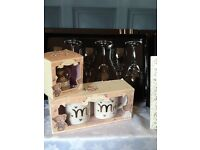 Wedding anniversary gift/ present glasses, picture frame, Yankee candle RRP £100