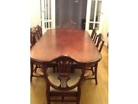 Bradley Wooden Dining Table and Six Chairs