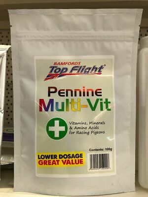 Pigeon Multi Vitamins  Soluble Pennine  MultiVit by Top Flight 100g  BMFD