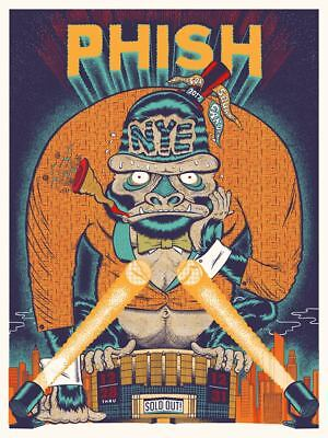 PHISH POSTER NEW YEARS RUN MSG YOUR CINEMA #/1000 12/28/17 SOLDOUT bakers dozen