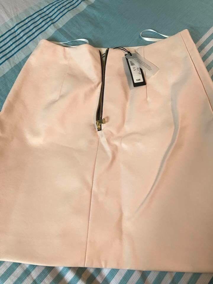 BNWT River island soft leather skirt