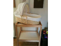 Moses basket and nappy changing unit BARGAIN