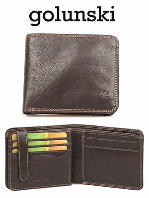 Style 700: Mens Premier Quality Wallet In Antique Leather By Golunski £35.00