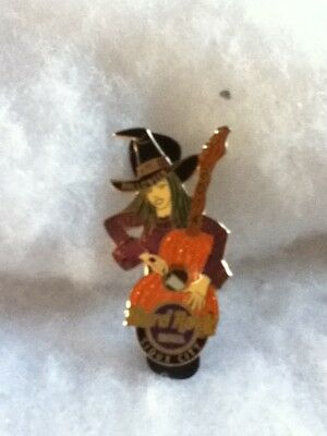 Hard Rock Cafe Pin Sioux City Halloween Witch with Pumpkin Guitar 2014](Rock City Halloween)