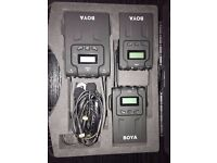BY-WM8 UHF Dual-Channel Wireless Micraphone System