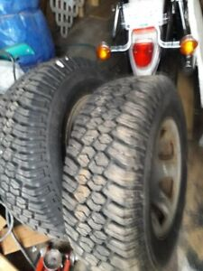 2001 Toyota Tacoma 4 rims and winter tires
