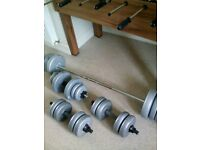 York Barbell and dumbbells weights in excellent condition