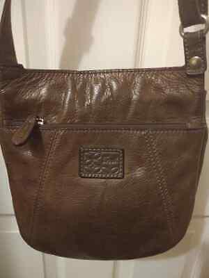 FOSSIL Vintage Front Flap Crossbody Messenger Shoulder Bag Card Organizer