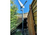 Huge satellite dish with pole for sale