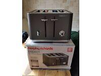Morphy Richards 1800w Aspect 4 Slice Variable Width Toaster - Titanium
