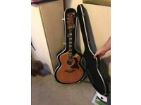 Beautiful Takamine electro acoustic guitar and Hardcase
