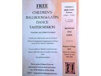 FREE children's ballroom & latin taster session