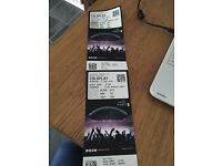 2 COLDPLAY TICKETS TONIGHT WEMBLEY 15th June Block 223, Row 12 £60 for the 2 cost £95 each