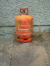 Red gas cylinder tank