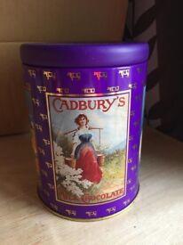 Collectable Vintage Cadbury Drinking Chocolate Decorative Tin