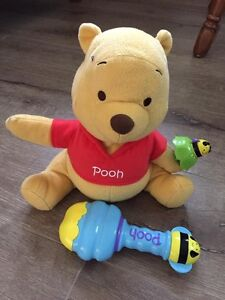Pooh toy and rattle