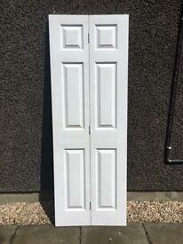 White bi fold door