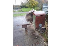 Lister petter Diesel (converted to electric) concrete mixer 75 ONO