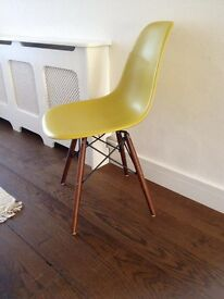 Lime green retro style dinning chair