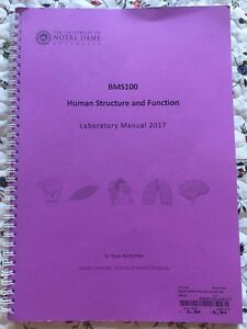 University of Notre Dame Human structure and function lab manual Wembley Cambridge Area Preview