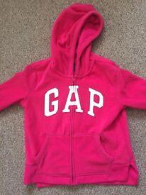 Girls GAP fleece cardigan top. Age 12 to 13 years