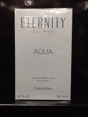 ETERNITY AQUA BY CALVIN KLEIN *MEN'S COLOGNE* 6.7 OZ EDT SPRAY *NEW PERFUME BOX