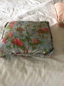 Vintage cushion Sandersons fabric