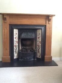 Victorian fireplace and pine surround