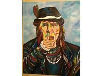 Pipe smoking indian