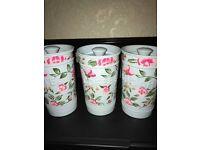 tea coffee sugar canisters brand new