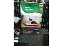 DOG CAGE BRAND NEW MEDIUM SIZE STRONG GALVANISED CAGE