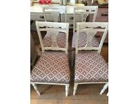 Lovely set of 4 Reupholstered CHAIRS.