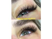 *OFFER*Professional semi-permanent individual mink eyelash extensions £35 (original price £60)