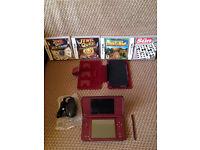 Nintendo DSI XL + CASE + 5 GAMES +PEN + CHARGER NO BOX (Burgundy) Exelent condition can deliver.