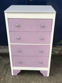 STUNNING TALL CHEST OF DRAWERS WITH LIFT UP LID.