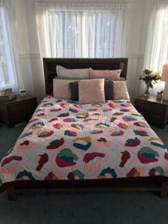Bedroom Furniture Set Queen Bed Bedside Drawers Tallboy Other - Bedroom furniture geelong