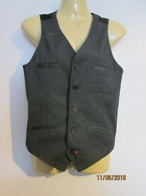 boys / youths grey pinstripe waistcoat age 12/13 years great for a formal event or wedding