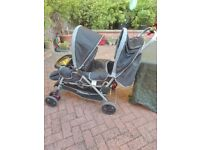 Safety first double pram