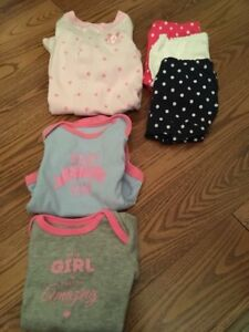 Large lot NB, 0-3, 3-6 month baby girl clothes